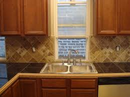 Tile Countertop Kitchen Mexican Kitchen Designed With Orange Wall Colors And Red Ceramic