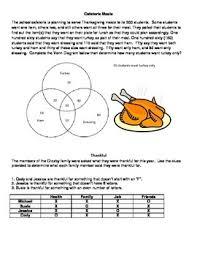Venn Diagram In Logic Thanksgiving Logic Puzzles And Venn Diagram