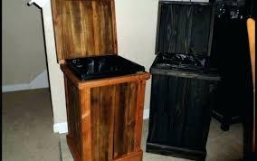 wooden tilt out trash bins full size of wood bin home depot stunning garbage kitchen waste wooden tilt out trash bins