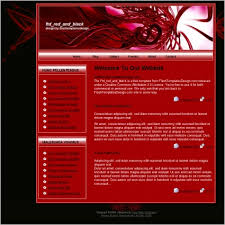 Template Websites Beauteous Red And Black Template Free Website Templates In Css Js