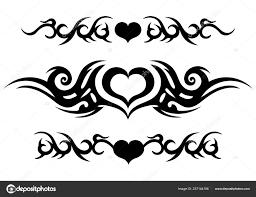 племенной татуировки богато кельтский узор сердцем татуировка полосы