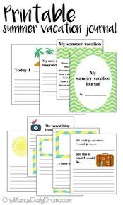 vacation journal page for kids printable road trip printable summer vacation journal for kids how i spent my summer vacation travel