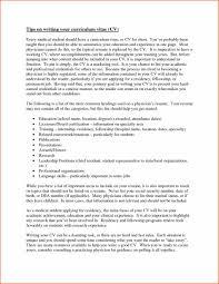 Sample Resume For Residency Training Fresh Example Cv Medical