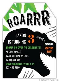 Dinosaur Birthday Invitation Roar Dinosaur Kids Birthday Invitation
