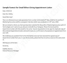 How To Write Appointment Letter Appointment Letter Format For Marketing Manager Offer
