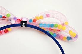 ball hair ties. cute cotton ball hair band ties