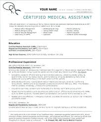 Certified Medical Assistant Resume Adorable Medical Assistant Resume Templates Cma Template Gocreatorco