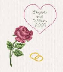 Wedding Cross Stitch Patterns Delectable Wedding Anniversary Card Cross Stitch Pattern Wedding