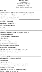 Apprentice Lineman Resumes Journeyman Sample Resume Templates Free