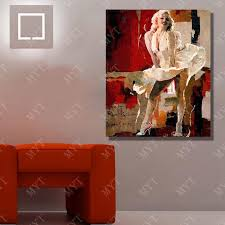 y marilyn monroe oil painting home decoration living room wall hand painted wall art canvas painting