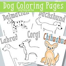 Dog Coloring Pages Free Printable Easy Peasy And Fun