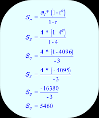 geometric sequence calculate the sum of the first 6 terms