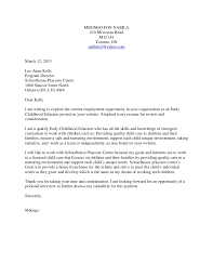Sample Resume Cover Letter For Preschool Teacher Adriangatton Com