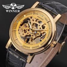 oem winner good price new style vogue gold color skeleton oem winner good price new style vogue gold color skeleton mechanical watch for men on
