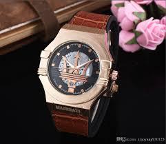 Wholesale Designer Watches Aaa Wholesale Brand Watches Maserati Mens Designer Watches Luxury Sports Car Sports Rose Gold Quartz Clock Automatic Calendar Montre Homme