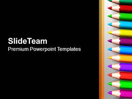 Education Background For Powerpoint Color Pencils Black Background Education Powerpoint Templates Ppt