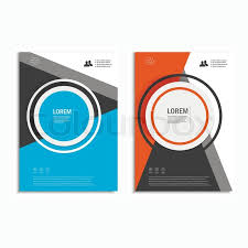 annual report book cover design vector leaflet brochure flyer template