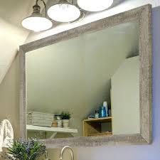 barnwood wall country mirror decor