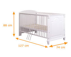Angel Amazing Baby Girl Cot Bed With 60 x 120 CM