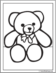 Small Picture Teddy Bear Coloring Pages For Fun