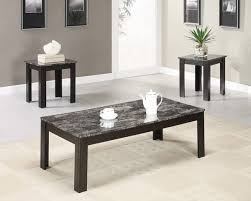 coaster furniture black faux marble top