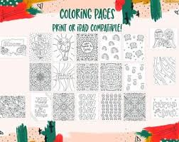 From there, just import the coloring sheets into procreate. Ipad Coloring Pages Etsy