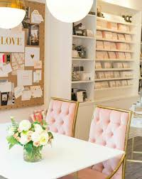 chic office space. PHOTOS: 10 Feminine \u0026 Chic Office Spaces To Swoon Over Space
