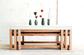 concrete and wood coffee table homemade modern diy ep15 concrete wood coffee table options large square