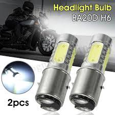 H6 Light Bulb Amazon Com 2pcs Ba20d H6 4cob Light Bulb Motorcycle Led