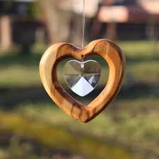 Fensterdeko Herz Aus Holz Herz Mit Bleikristall Kaufen