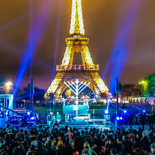 close up of the menorah at the eiffel tower courtesy of chabad lubavitch photo
