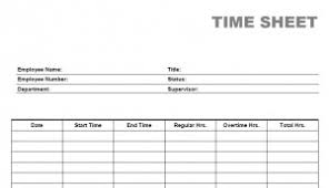 Printable Weekly Time Sheets Weekly Time Sheets