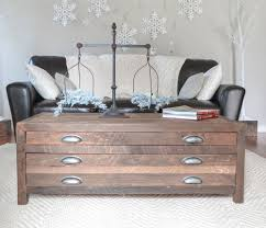 Coffee Table With Drawers Ana White Reclaimed Wood Coffee Table With Printmaker Style
