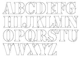 String-art pattern sheets ALPHABET STENCIL (letter height 10cm) -  www.spijkerpatroon
