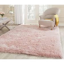Light Pink Fluffy Rug Safavieh Handmade Arctic Shag Pink Polyester Rug 6 X 9