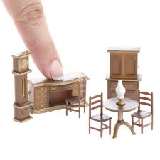 where to buy miniature furniture. Plain Furniture Dollhouse Miniature Furniture Micro Set Dining Room Miniatures  Doll Making Supplies Craft Inside Where To Buy Miniature Furniture E