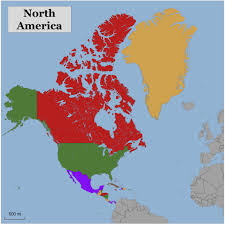 Small Picture Color Blank Map Of North America Color Blank Map Of North America