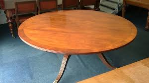 large antique round table 6ft diameter regency revival mahogany pedestal dining table to seat 10 to 12 people