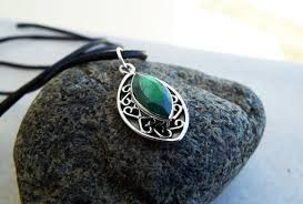 emerald pendant gemstone silver necklace green handmade precious stone sterling 925 boho jewelry