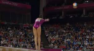 Vault gymnastics gif Tragic Accident Aly Raisman Misses Beam Mashable An Olympic Gymnasts Bad Day Is Much Worse Than Yours