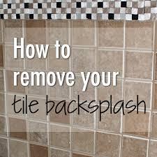 Removing Tile Backsplash Inspiration Replacing Tile Backsplash New Remove How To A In 48
