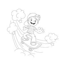 skateboard coloring page outline of cartoon boy on the book for kids girl skateboarding skateboard coloring pages