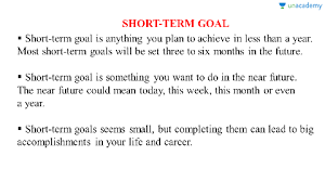 What Are Your Short Term Goals What Is Your Short Term Goal In Hindi