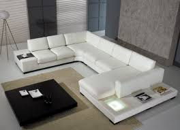t  modern leather sectional sofa