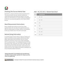 Agv Helmet Size Chart Agv K 3 Sv Ride 46 Helmet