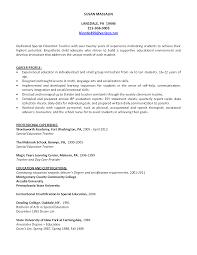 How To List Education On Resume Sample Special Education Teacher Resume 100 Perfect Samples Of 96