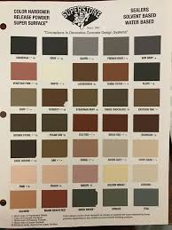 Concrete Sealer Color Chart Home American Stamp Concrete Corporation
