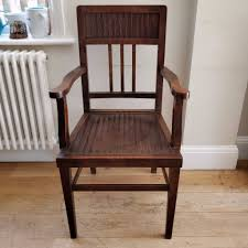 vintage oak armchair old chair wooden chair