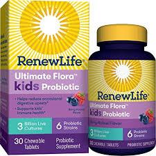 Renew Life Ultimate Flora Kids Probiotic 3 Billion 30 Chewable Tabs