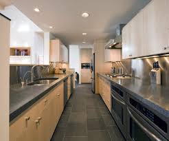 Kitchen Stone Floor Honed Coral Stone Floor Kitchen Contemporary With Birch Gray